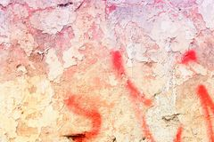 Urban decay. Grunge concrete wall background - urban decay texture with peeling paint Royalty Free Stock Photo
