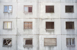 Urban decay. Run-down building. Poverty and abandonment Royalty Free Stock Photography