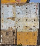 Urban Decay. Destroyed House Grunge Wall Egypt stock photography