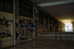 Free Urban Decay Vandalism, Walls Covered By Street Art Royalty Free Stock Images - 196127419