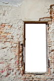 Urban decay window frame 2. Urban decay white isolated window frame template - ideal for image insertion Stock Photos