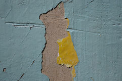 Urban Decline Pattern With Peeling Paint - Macro Background Toned Effect. Royalty Free Stock Images