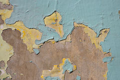 Urban Decline Pattern With Peeling Paint - Macro Background Toned Effect. Stock Image