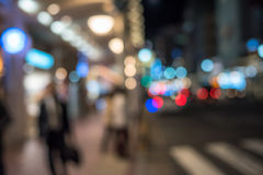 Urban defocused night scene Royalty Free Stock Photos