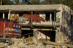 Urban Demolition in Austin, Texas Royalty Free Stock Photography