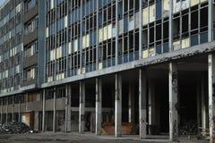 Urban Dereliction. Vast derelict building in Bristol UK stock image