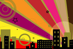 Urban design background - vector. Illustration of urban retro design.EPS file available Royalty Free Stock Image