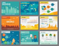 Urban design of infographics presentation slides template Royalty Free Stock Image