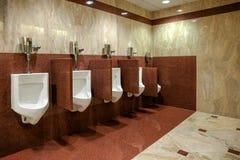 Urban design men restroom stock photos