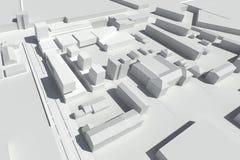 Urban design - modern living houses royalty free illustration