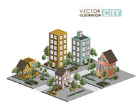 Urban design. Over white background, vector illustration Royalty Free Stock Photography