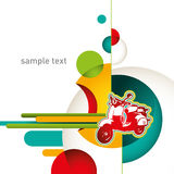 Urban designed layout. Urban layout with designed colorful objects Royalty Free Stock Images