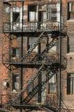 Urban Detroit: Forgotten Blight. An urban apartment block in Detroit royalty free stock photo