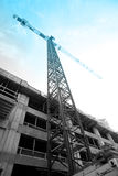Urban Development. Urban construction site with crane Royalty Free Stock Photo