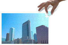 Urban development and city planning concept Stock Photo