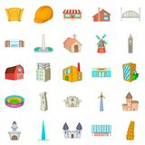 Urban development icons set, cartoon style. Urban development icons set. Cartoon set of 25 urban development vector icons for web isolated on white background Royalty Free Stock Photo