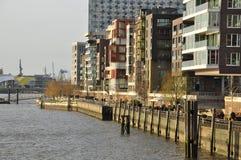 Urban development project - Hamburg old harbour, Germany Royalty Free Stock Image