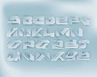 Urban Digital Graffiti Alphabet Set - Paper Cut Royalty Free Stock Images