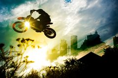 Urban Dirt Bike Jump Stock Photos