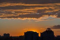 Urban dramatic sunset Royalty Free Stock Images