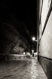 Urban Dreamings II. Long exposure picture of a stone street taken at night Stock Photography