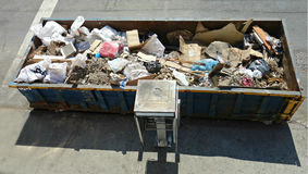 Urban Dumpster Royalty Free Stock Photo
