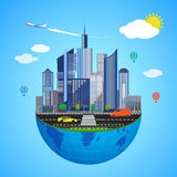 Urban earth concept. Vector illustration Stock Photography
