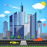Urban earth concept. Vector illustration Royalty Free Stock Photography