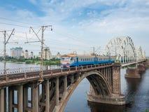 Free Urban Electric Multiple Unit On Bridge Across River, Kyiv, Ukraine Stock Image - 187848781