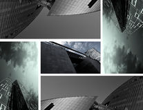 Urban elements. Collage build from elements of modern buildings Royalty Free Stock Photography