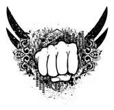 Urban emblem with fist Royalty Free Stock Photo