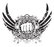 Urban emblem with fist Royalty Free Stock Photography