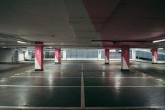 Urban empty underground parking Stock Image