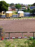 Urban Equestrian 2. Photo of a suburban Adelaide scene featuring residential houses, timber horse floats and an equestrian arena stock photos