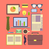 Urban executive item flat design Stock Image