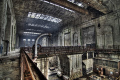 Urban exploration of the power plant stock photos