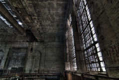 Urban exploration of the power plant royalty free stock image