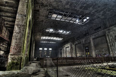 Urban exploration of the power plant Stock Image