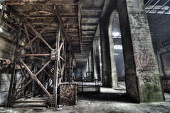 Urban exploration of the power plant Stock Images