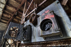 Urban exploration of the power plant royalty free stock photo