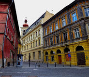 Urban exploration in Sibiu. This is a street from the old center in Sibiu,Romania, the european cultural capital in 2007 Stock Image