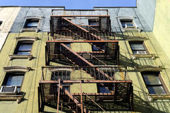 Urban exterior with fire escape. In Manhattan royalty free stock photography