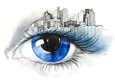 Urban eye Stock Photos