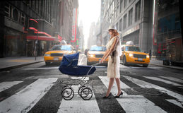 Urban family Royalty Free Stock Images