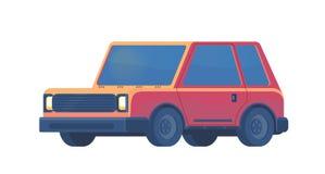 Urban family car. Sport utility vehicle. SUV. Crossover or off-road auto. Vector flat illusration. stock illustration
