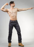 Urban Fantasy. Male model posing in a contemporary outfit royalty free stock image