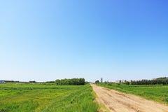 Urban farmland landscape Stock Photo