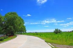 Urban farmland landscape Stock Images