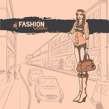 Urban fashion. City and people Stock Photo
