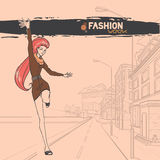 Urban fashion. City and people Stock Photos